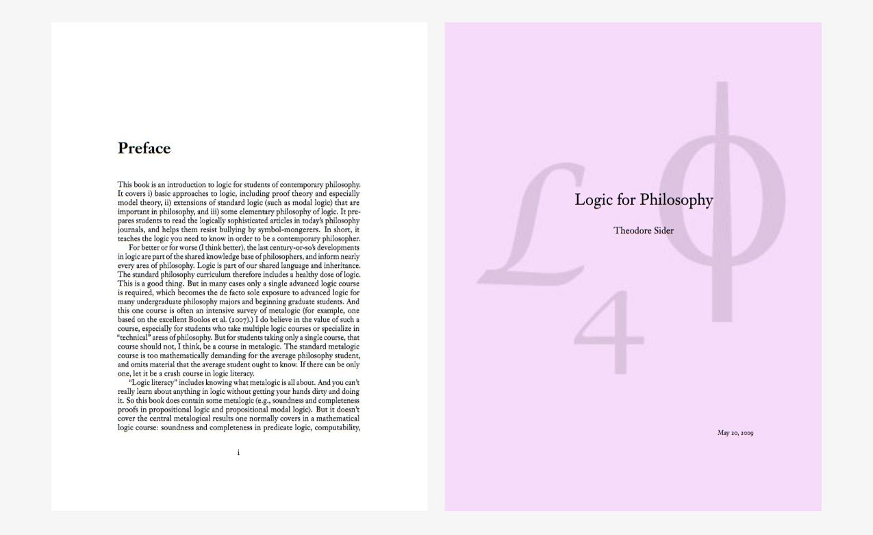The Book of Logic For Philosophy – Theodore Sider