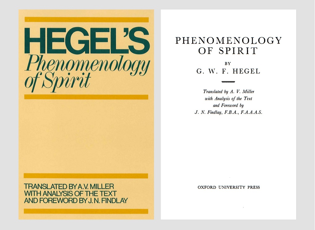 The Book of Phenomenology Of Spirit – by Hegel